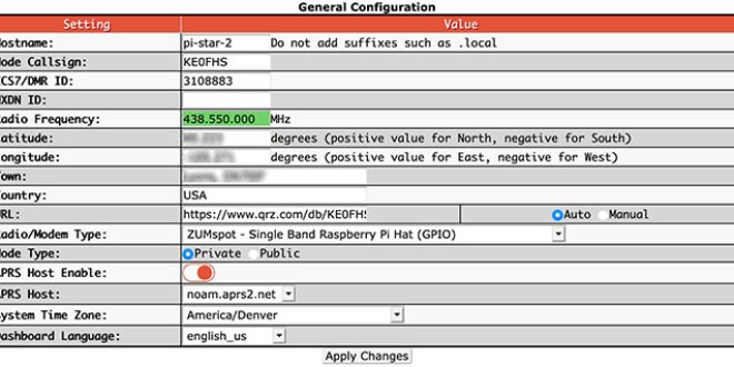 Basic configuration settings - General Configuration