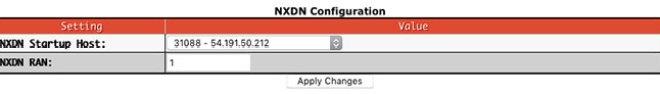 Digital mode configuration settings - NXDN
