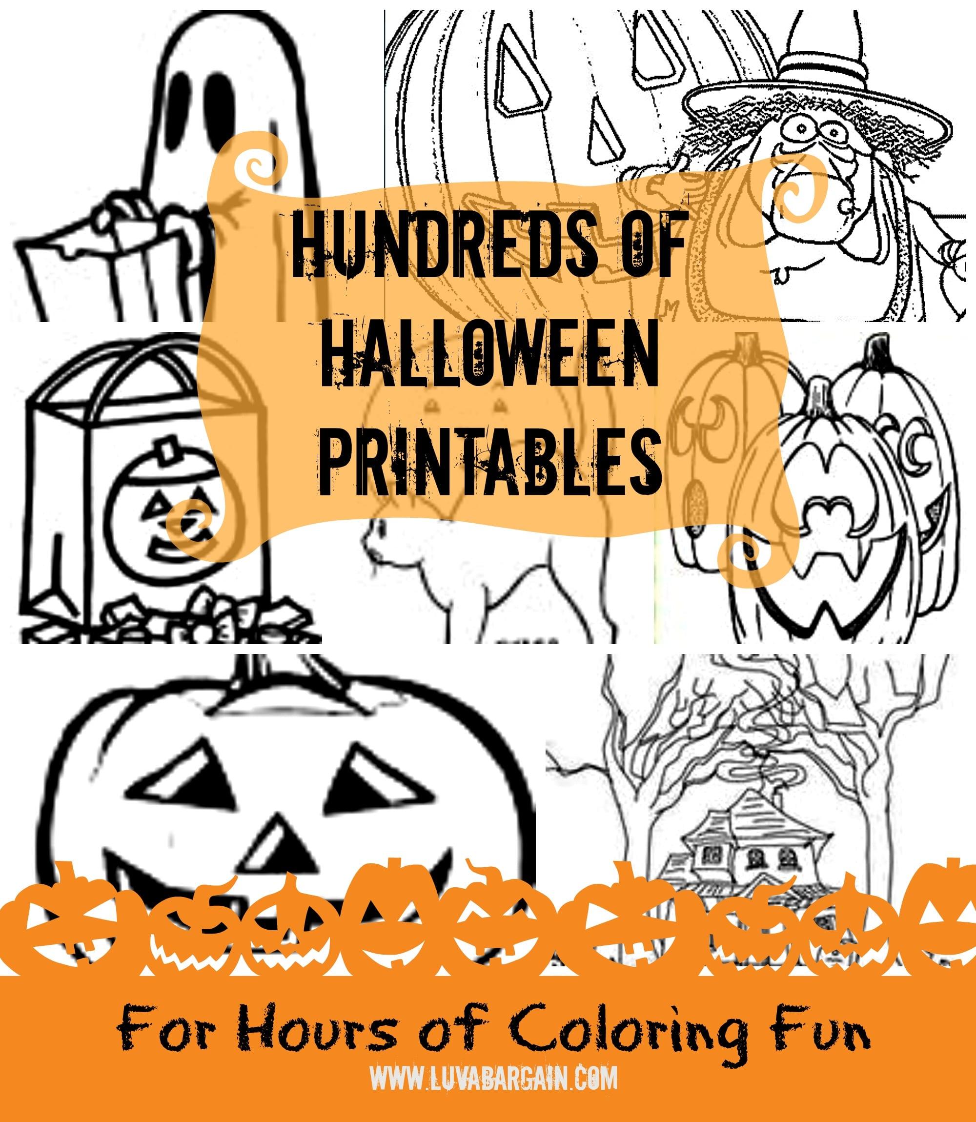Hundreds Of Free Halloween Printables