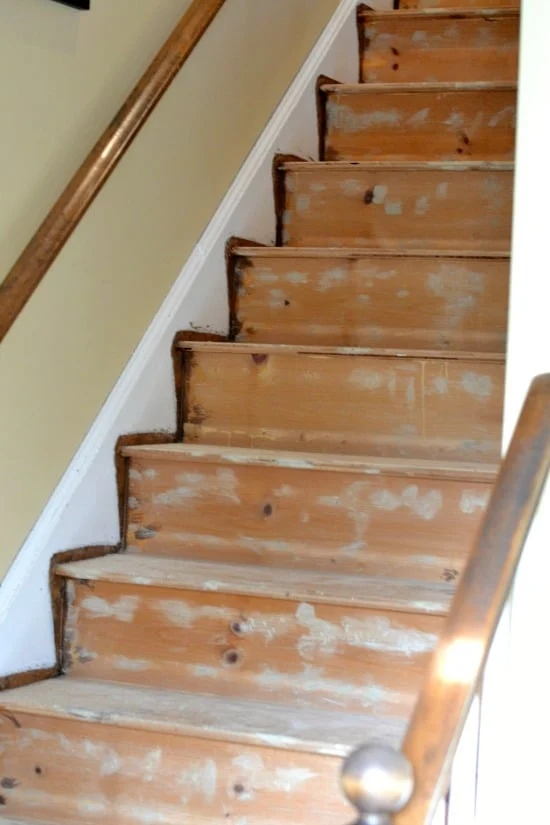 How To Remove Carpet From Stairs And Paint Them | Flooring For Stairs Not Carpet | Stair Tread | Stain | Staircase Makeover | Bullnose Carpet | Laminate Flooring