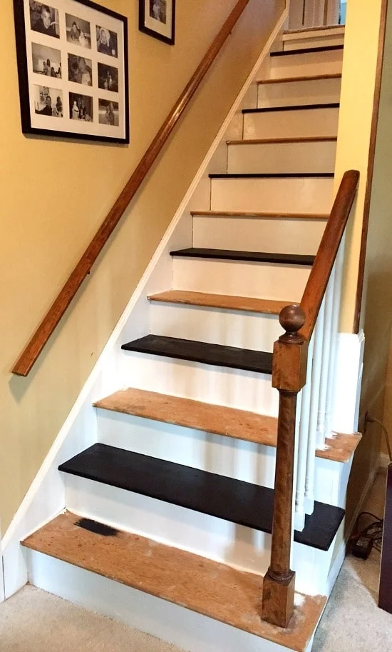 How To Remove Carpet From Stairs And Paint Them   Removable Carpet For Stairs