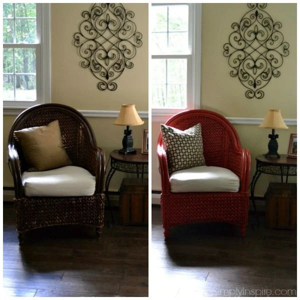 How To Paint Wicker Furniture With A Brush Chair Makeover. Best Spray Paint  For Wicker Part 89