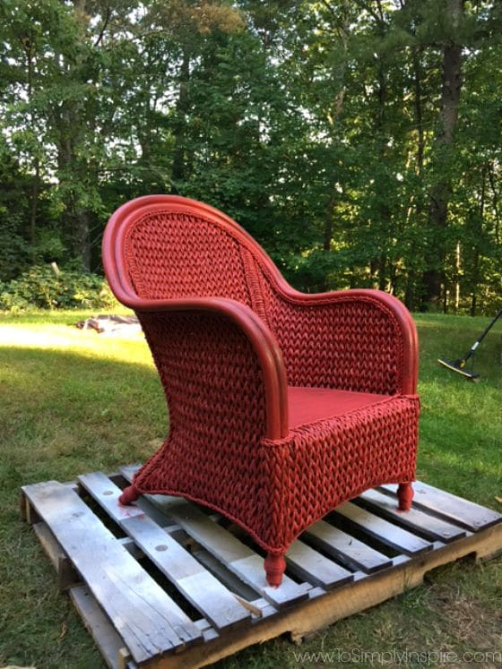 How To Paint Wicker Furniture With A Brush Chair Makeover Part 52