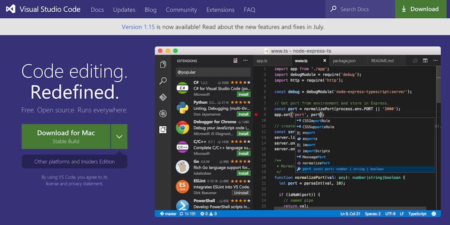 Command Line per Visual Studio Code su macOS