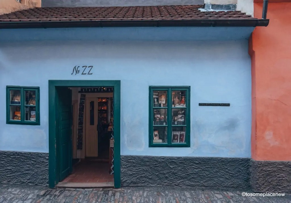 House no 22, Kafka House located on the Golden Lane, Prague Castle District #Prague