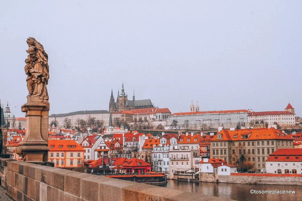 Prague Castle, as viewed from Old Town Square Prague #prague