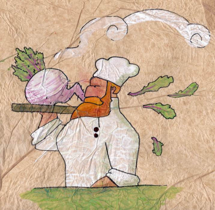 Turnip Chef illustration by Tostoini