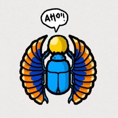 illustrazione-scarabeo-egizio-tostoini-bartolomeo