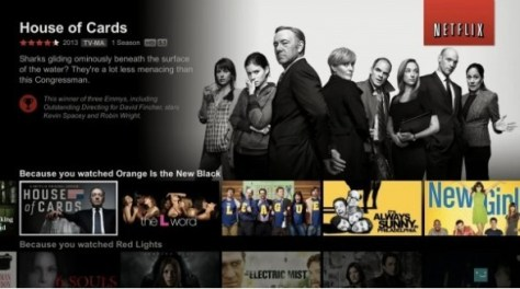 Netflix interface met House of Cards