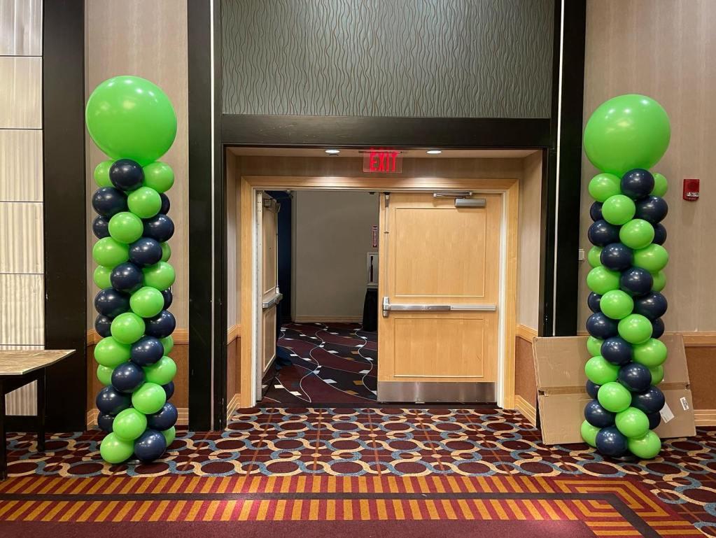 Mazel Tov to Jacob! #barmitzvah #barmitzvahballoons #mitzvahballoons #navyandlime #balloonsnearme #balloonsbytotalparty #celebrateeverything #102321 #balloonarch #ballooncenterpieces #newbrunswickballoons #eastbrunswickballoons