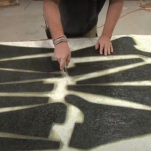TotalBoat Polyester Laminating Resin in use -03