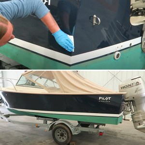 TotalBoat Dewaxer & Surface Prep in use -01