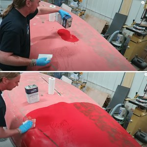 TotalBoat Dewaxer & Surface Prep in use -02