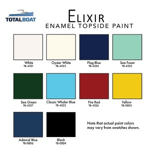 TotalBoat Elixir Color Chart