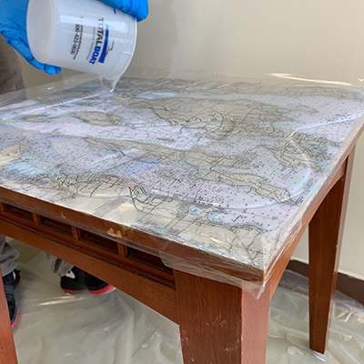 TotalBoat Bar & TableTop Kit: Step 8 - Apply the First Flood Coat