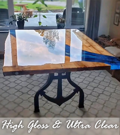 Jess Crow - Crow Creek Designs - High-Gloss Ultra Clear Table
