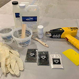 TotalBoat Epoxy Marble Effect Kit - Layout your materials