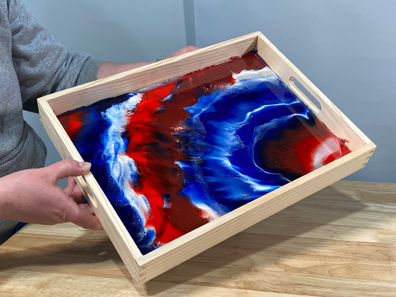 TotalBoat Epoxy Patriotic Serving Tray - Finished