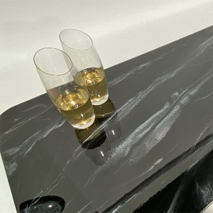 TotalBoat Black Epoxy Marble Effect Kit used on a countertop