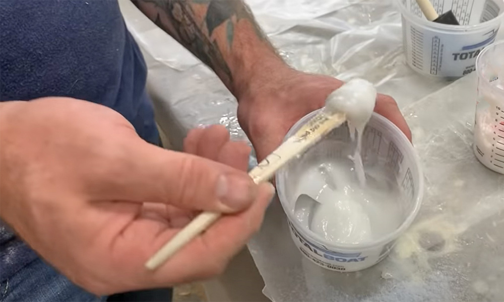 TotalBoat Epoxy thickened with colloidal silica for bonding