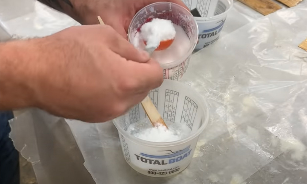 TotalBoat Silica Thickener used to thicken TotalBoat Epoxy