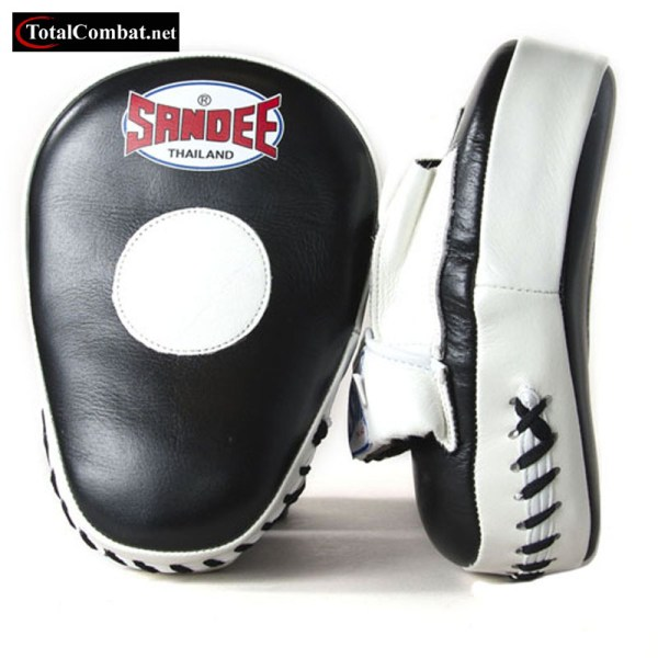 sandee leather curved focus pads at totalcombat