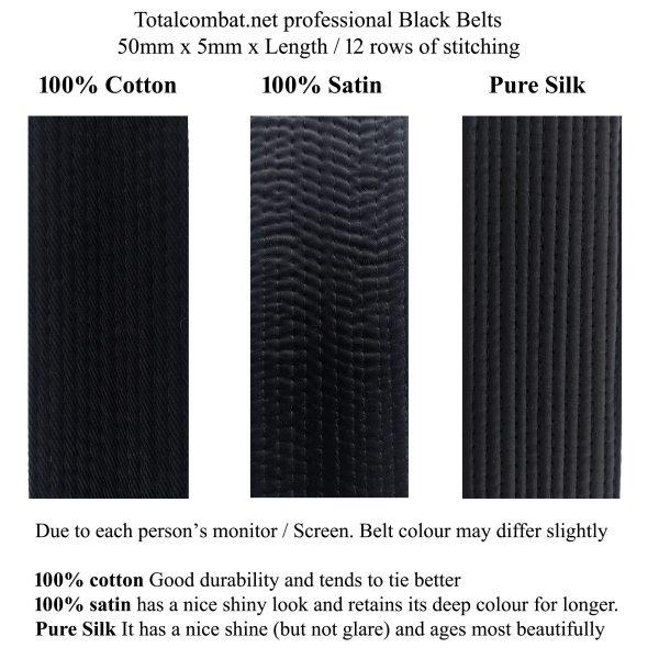 3 styles of black belts
