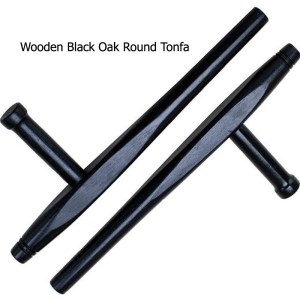 Wooden Black Oak Round Tonfa