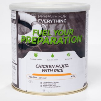 Freeze Dried Tin Chicken Fajita with Rice