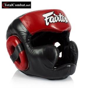 Fairtex Full Face Leather Head Guard