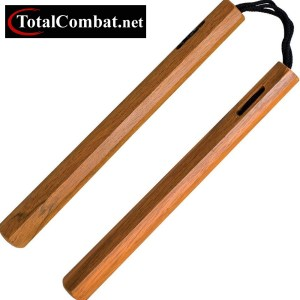 Natural Hexagonal Wood Cord Nunchaku