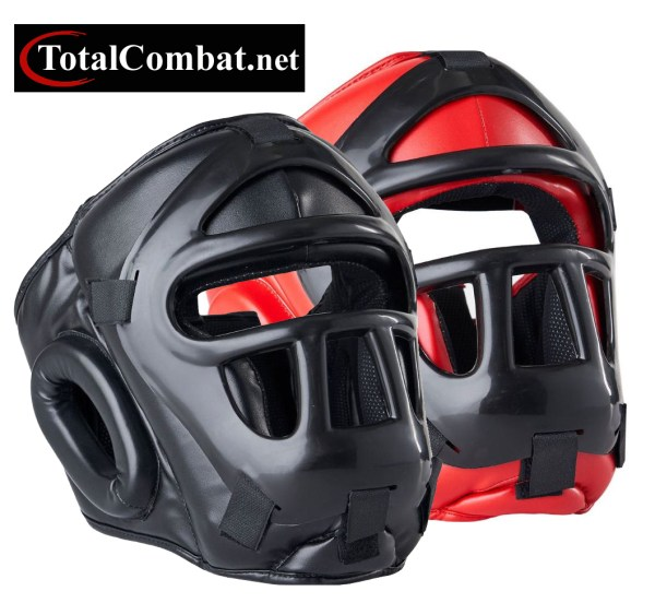 Grilled Head Guard with Removable Face Guard