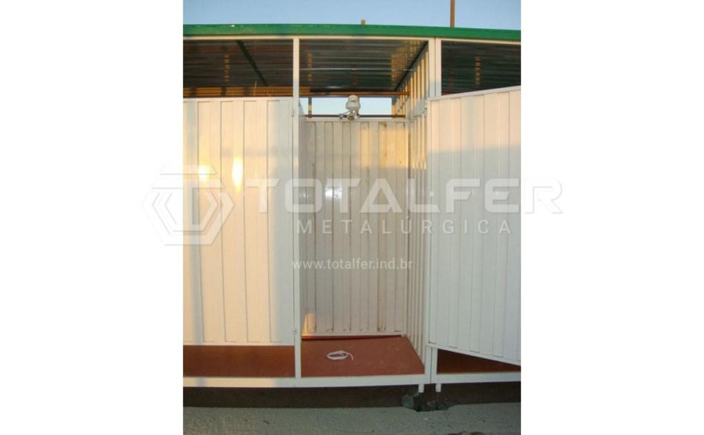 Container Banheiro com 12 chuveiros