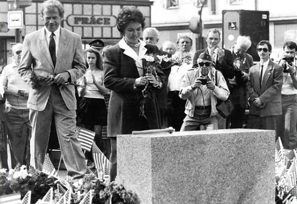 Václav Havel se Shirley Temple Black