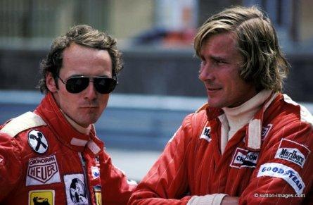 Skutečné předobrazy hlavních hrdinů (N. Lauda a J. Hunt)