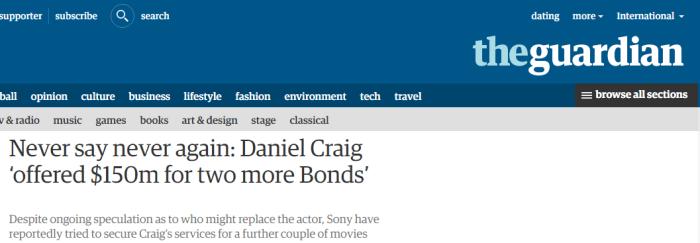 Zprávu uveřejnil důvěryhodný britský deník The Guardian
