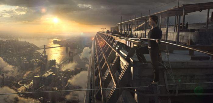 Muž na laně foto Falcon