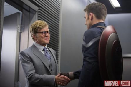 Captain America: Winter soldier (foto: Marvel) - Robert Redford a Chris Evans