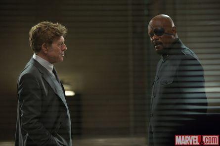 Captain America: Winter soldier (foto: Marvel) Robert Redford a Samuel L. Jackson