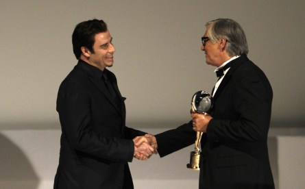 John Travolta s Jiřím Bartoškou (foto: KVIFF)