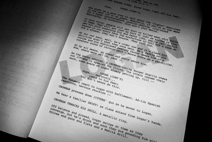 Logan - stránka ze scénáře