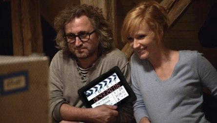 Režisér Jan Hřebejk s Aňou Geislerovou