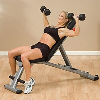 body solid gfid225  adjustable weight bench exercises