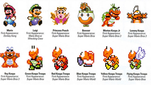 Super Mario World Characters In Pixel Goodness