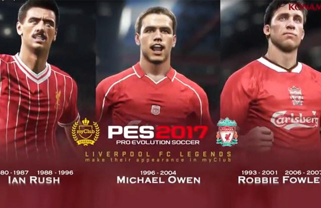 Liverpool Legends join Pro Evo