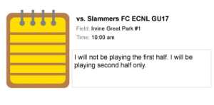 ECNL TGS Game Note