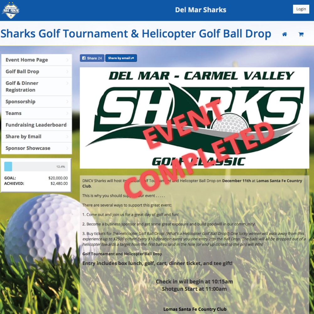 Del Mar Sharks Golf Fundraiser