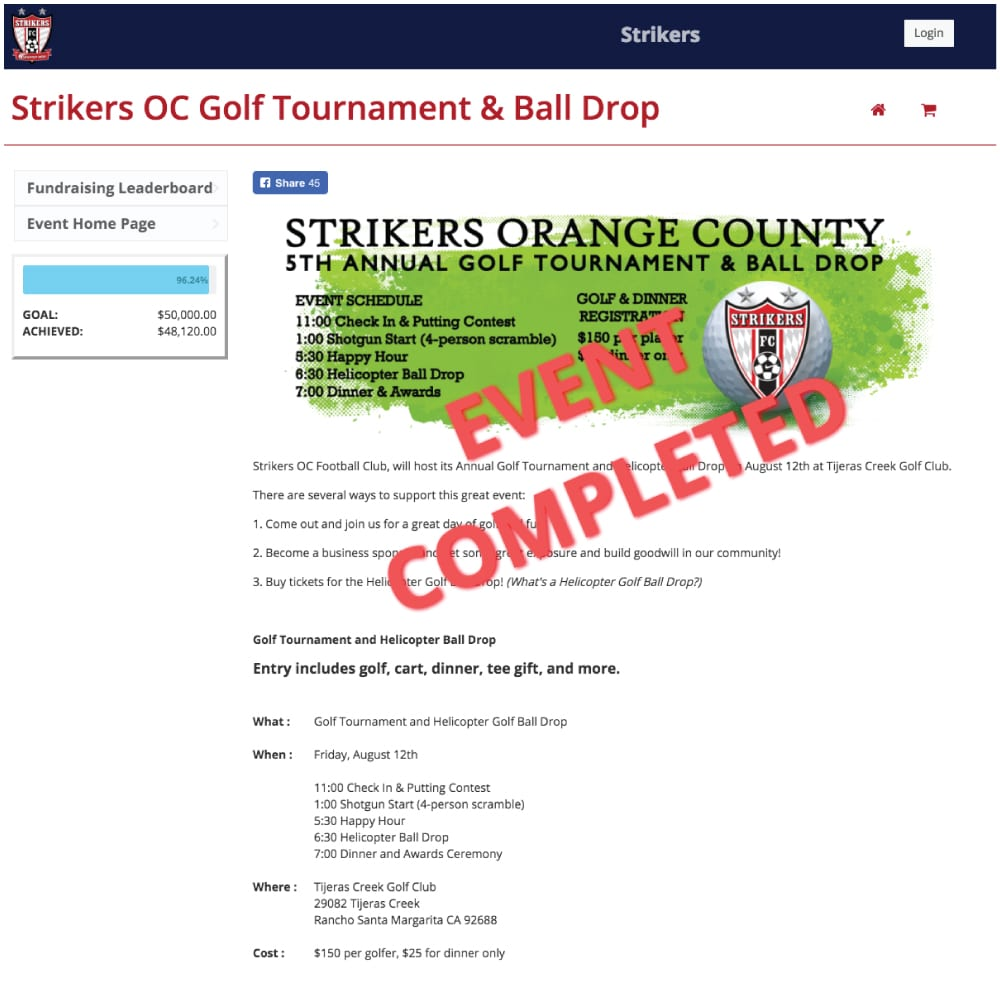 Strikers FC Golf Tournament