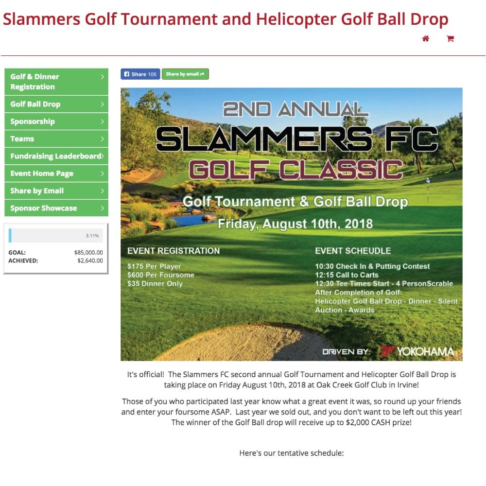 Slammers FC Golf Fundraiser