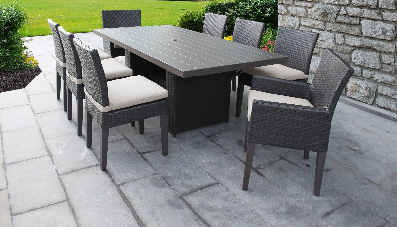 monterey 7 piece outdoor wicker patio furniture set 07d in cilantro tk classics monterey 07d cilantro